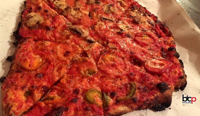 Sally's Pzza in New Haven
